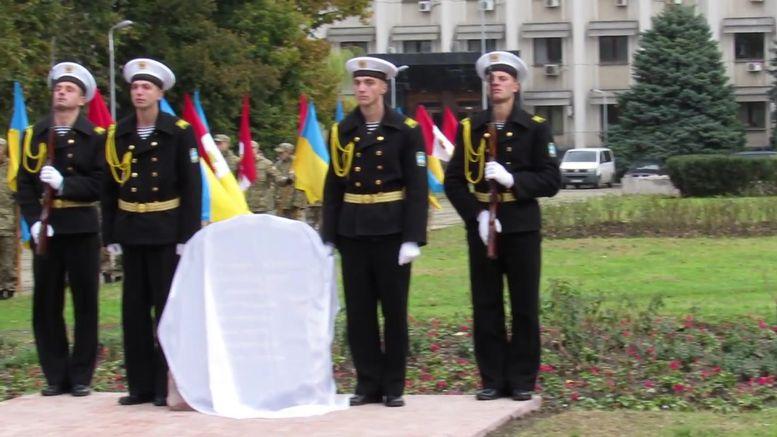 меморіальний камінь на честь героїв АТО - 1