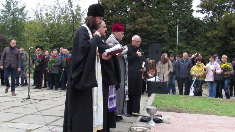 меморіальний камінь на честь героїв АТО - освячення-1
