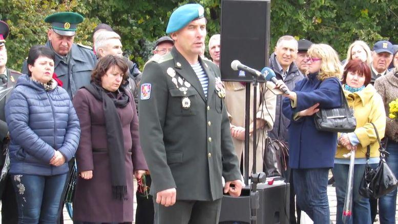 меморіальний камінь на честь героїв АТО - виступ