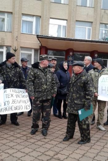 Мітинг працівників Великомихайлівського держлісгоспу - 02