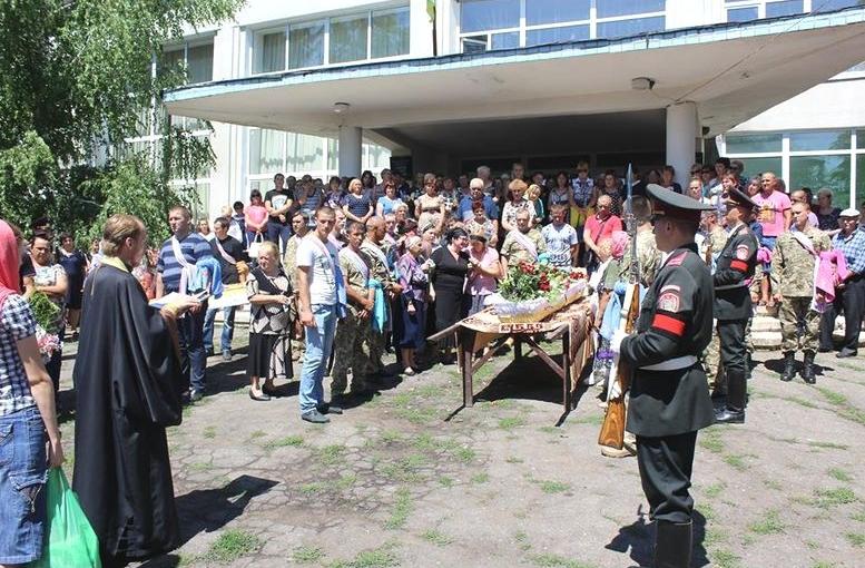 прощання із загиблою на війні Надією Морозовою - 03