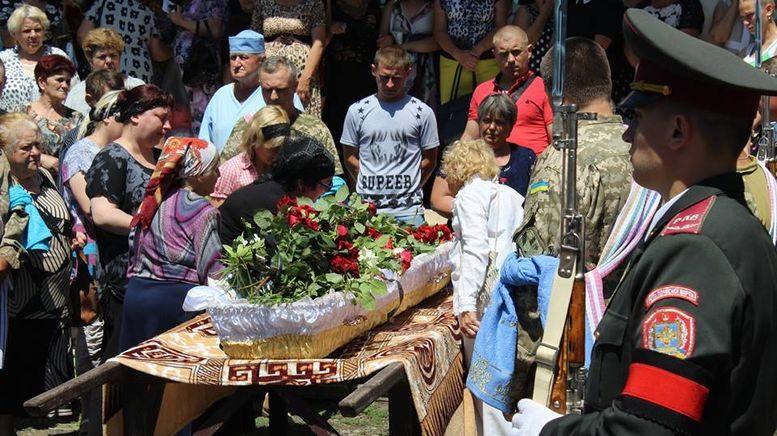 прощання із загиблою на війні Надією Морозовою