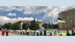 стометровый флаг Украины - Измаил