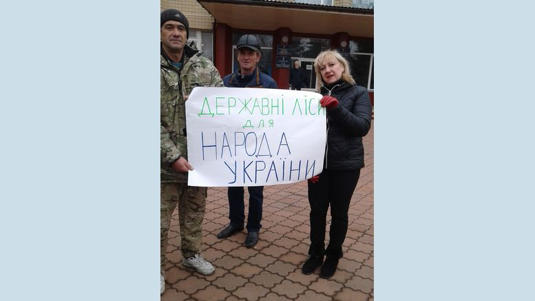 мітинг працівників Великомихайлівського держлісгоспу