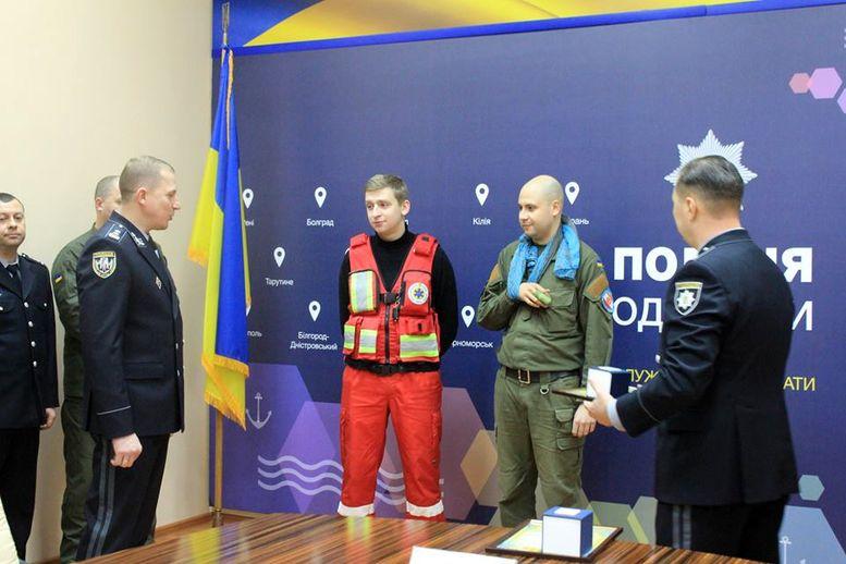 Нагородження відбулося в актовому залі Головного управління поліції в Одеській області -1