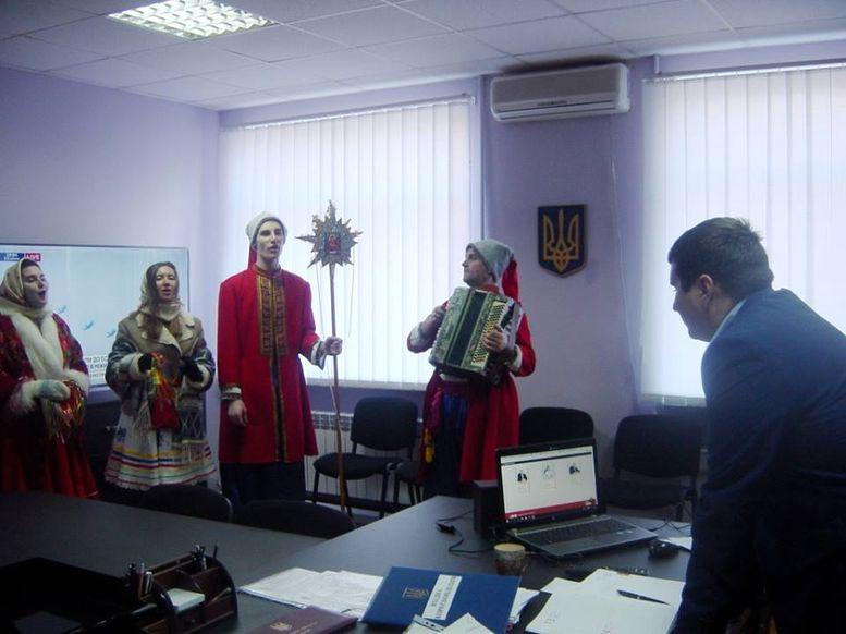Саратська райдержадміністрація - колядники- 2