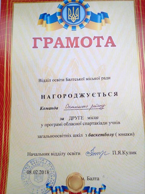 змагання обласної спартакіади з баскетболу серед юнаків - Одеська область - 2