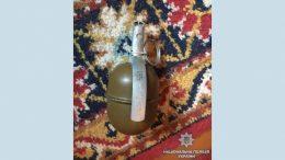 граната с запалом - незаконное обращение