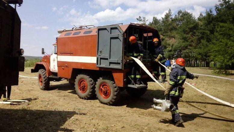 ліквідація пожежі - тренування - Балтське лісництво