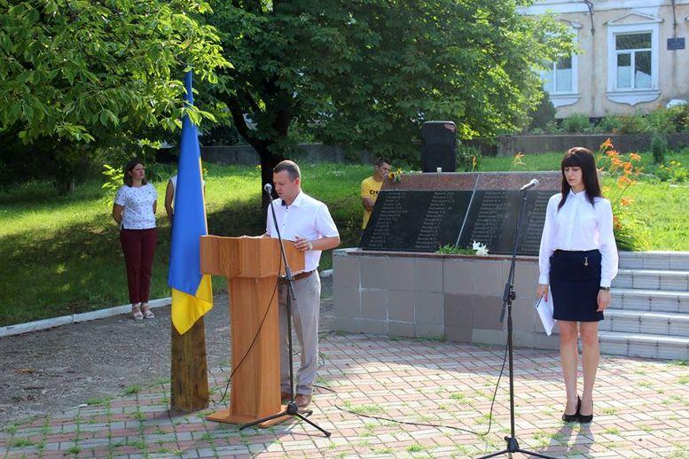 День скорботи і вшанування пам'яті жертв війни - Окни - мітинг - 1