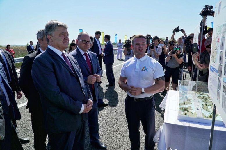Міст біля Паланки - відкриття - Петро Порошенко
